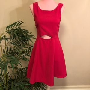 Hot Pink Sparkle and Fade Dress Size 0